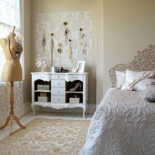Schlafzimmer romantisch weiss  46 romantische Schlafzimmer Designs - Süße Träume!