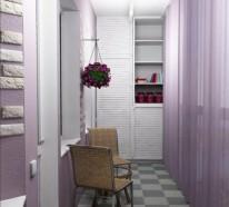 Kleinen Balkon gestalten – interessante Interior Design Ideen