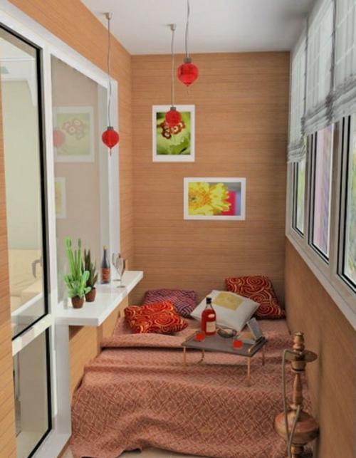 Balkon Asiatisch Gestalten kleinen balkon gestalten interessante interior design ideen