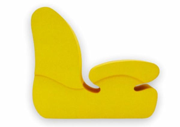 komfortabler kinder stuhl gelb ergonomisch design