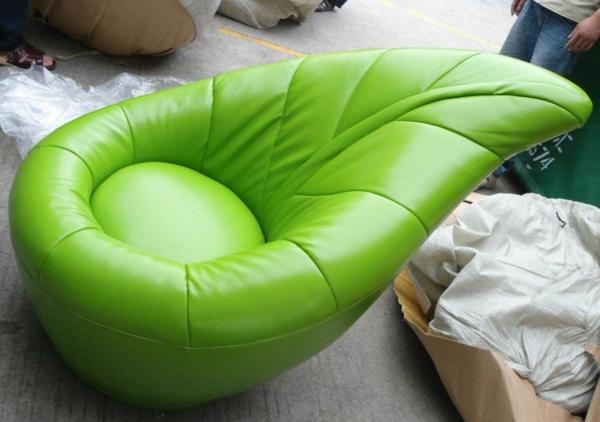 komfortabler kinder stuhl grün ergonomisch design gepolstert leder