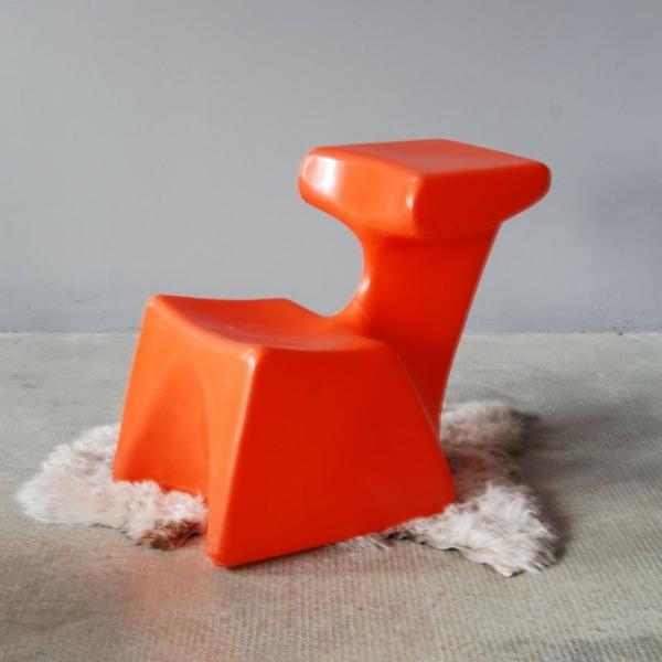glanzvoller kinderstuhl orange ergonomisch design interessant