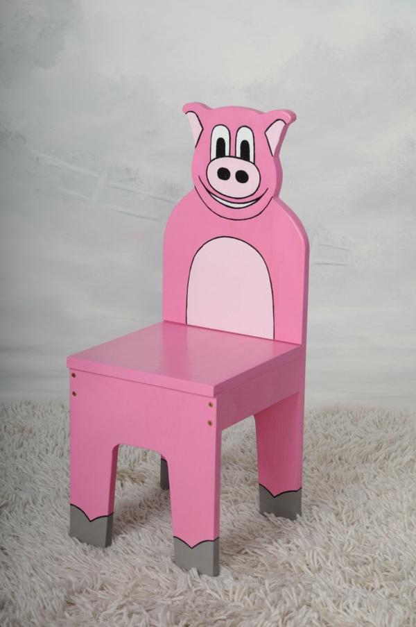 komfortabler kinder stuhl rosa ergonomisch design schwein