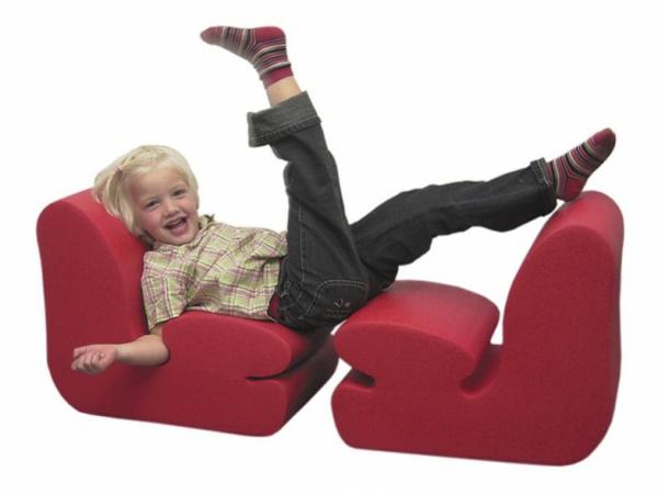 komfortabler kinder stuhl rot ergonomisch design