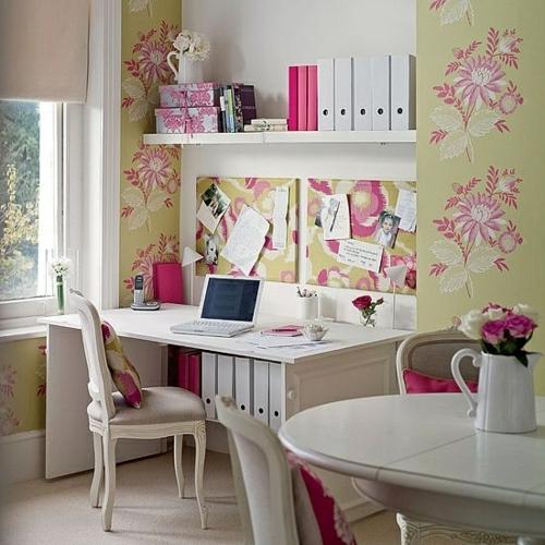 mädchenhaft büro haus designer einrichtung helle farben