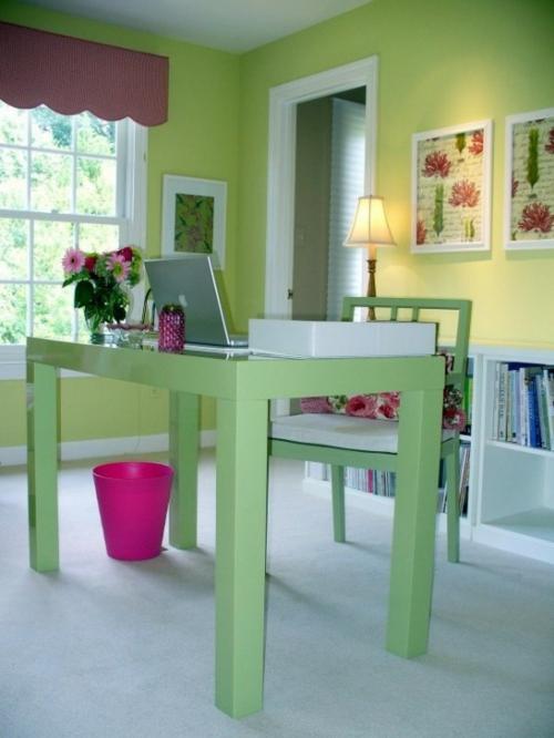 mädchenhaft büro haus elegant blassgrün ambiente
