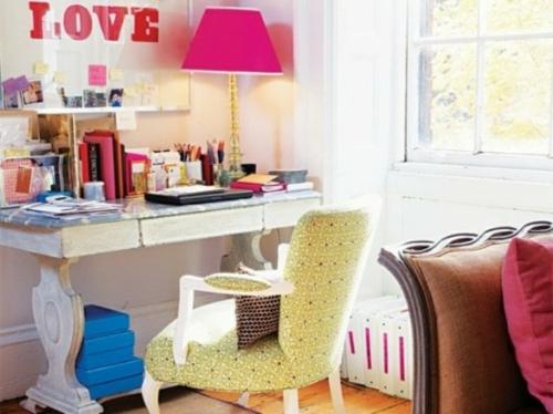 mädchenhaft büro haus elegant rosa tischlampe