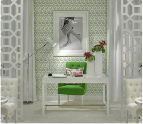 mädchenhaft büro haus grün lehnstuhl bequem arbeiten lernen