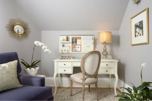 mädchenhaft büro haus klassisch lila sofa schreibtisch lernen