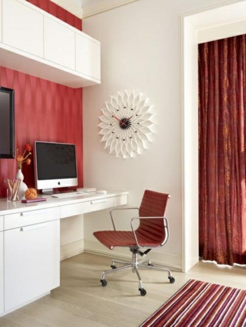 mädchenhaft büro  haus klassisch mutig rote ausstattung