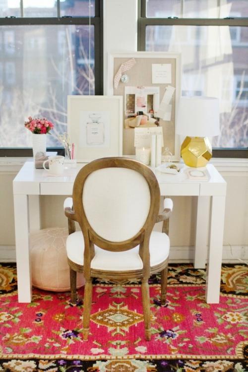 mädchenhaft büro haus orientalisch rosa teppich muster