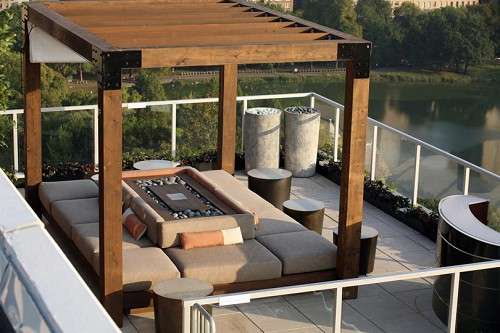 moderne dachterrasse gestalten designer ideen als inspiration. Black Bedroom Furniture Sets. Home Design Ideas