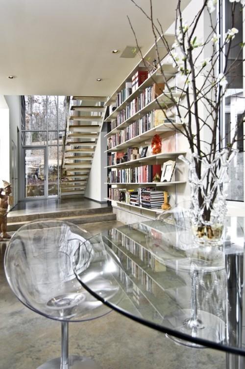 Moderne haus bibliothek designs coole vorschl ge f r die leser - Stuhl zebramuster ...