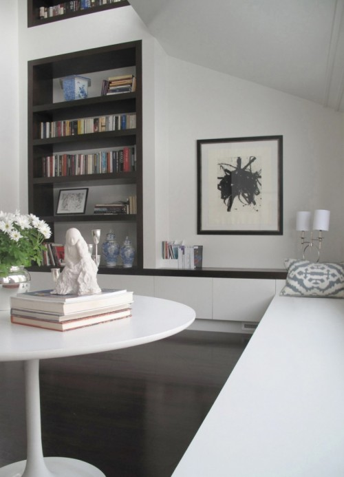 moderne haus bibliothek designs tisch bücher