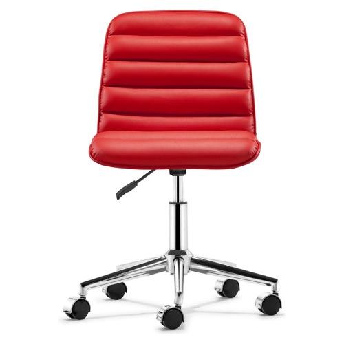 moderner cooler schreibtisch sessel design rollen rot farbe