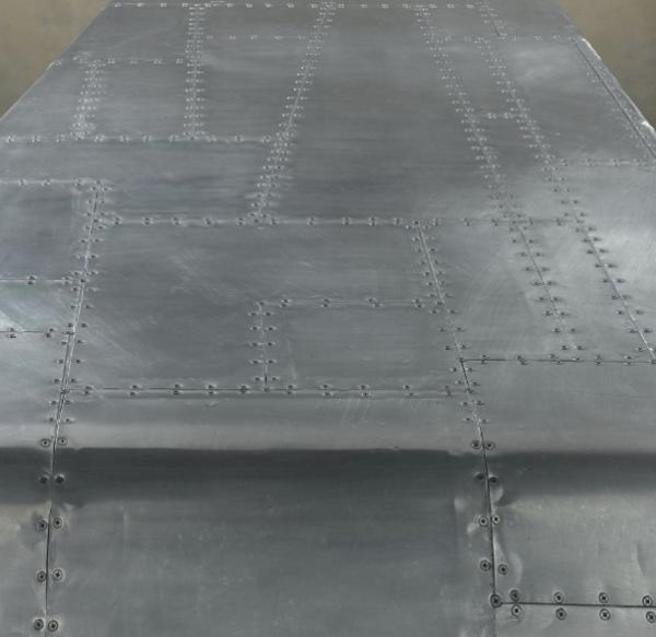 Moderner Flugzeug Flügel Schreibtisch Aluminium Oberfläche
