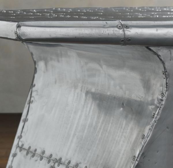 Cooler Flugzeug Flügel Schreibtisch Aluminium Textur