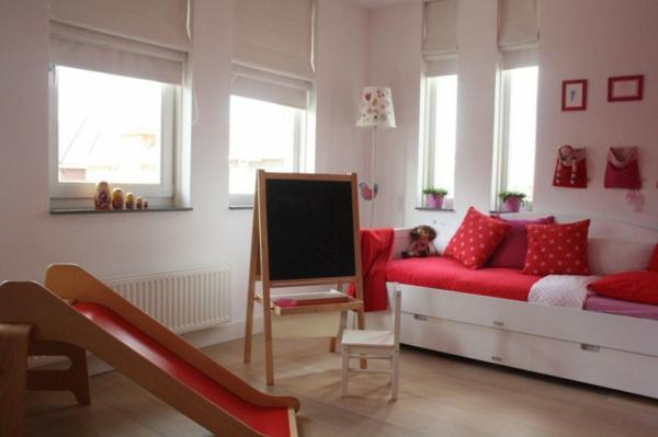 rotes kinderzimmer haus design einrichtung tafel