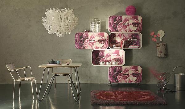 cooles designer regal system aus holz rosen