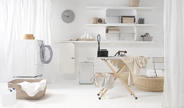 cooles designer regal system aus holz weiß wand befestigt