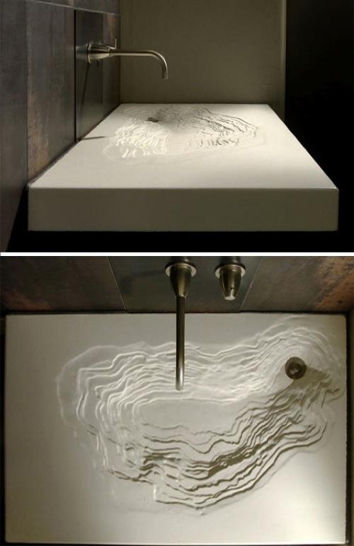 zeitgenössische spüle im bad schwarz design