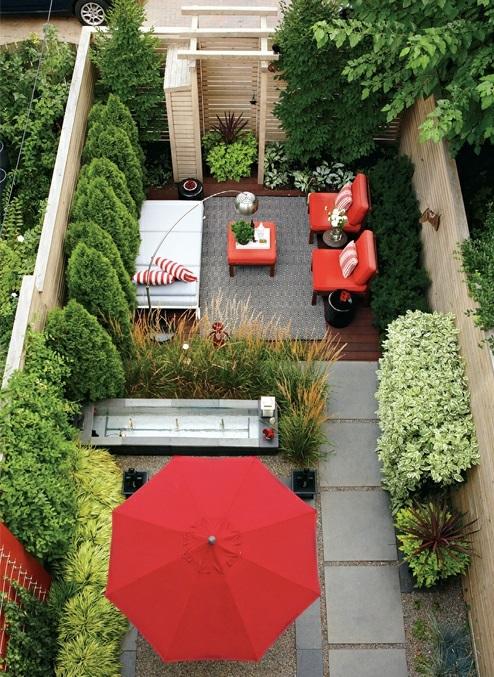 moderne coole Garten Gestaltung im Hinterhof dreistöckig haus