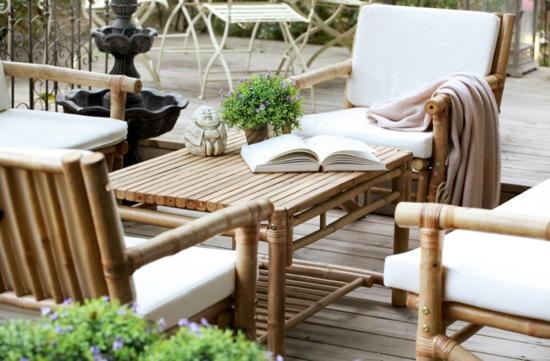 moderne coole Garten Gestaltung holz möbel garnitur