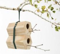 Modulares Vogel Nest aus Holz  – NeighBirds Häuser von Andreu Carulla