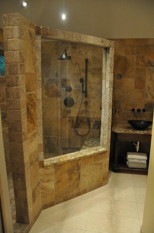 Badezimmer Dusche: Eigenartige Ideen Bad Mit Dusche Ultramodern ... Moderne Turlose Duschkabine Im Badezimmer