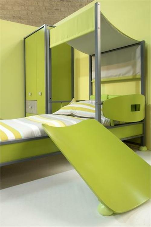 Neues Modernes Kinderzimmer Grün Streifen Bettdecke