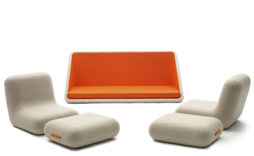 orange designer sofa von matali crasset moderner stil aus frankreich. Black Bedroom Furniture Sets. Home Design Ideas