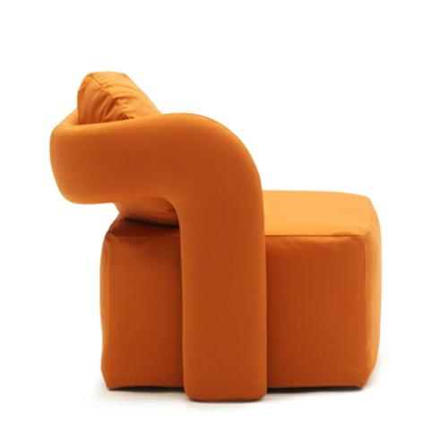 orange sessel in einzelbett umgewandelt idee design