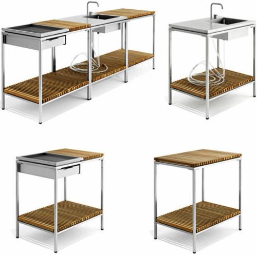 modulare küche im landhausstil - landhaus look. modernes modulares, Kuchen