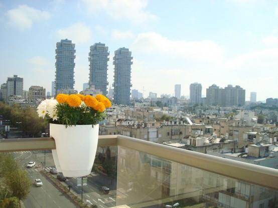 praktische und originelle gestaltungsidee greenbo balkon geländer