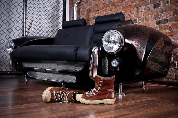 retro auto möbel designs sofa leder