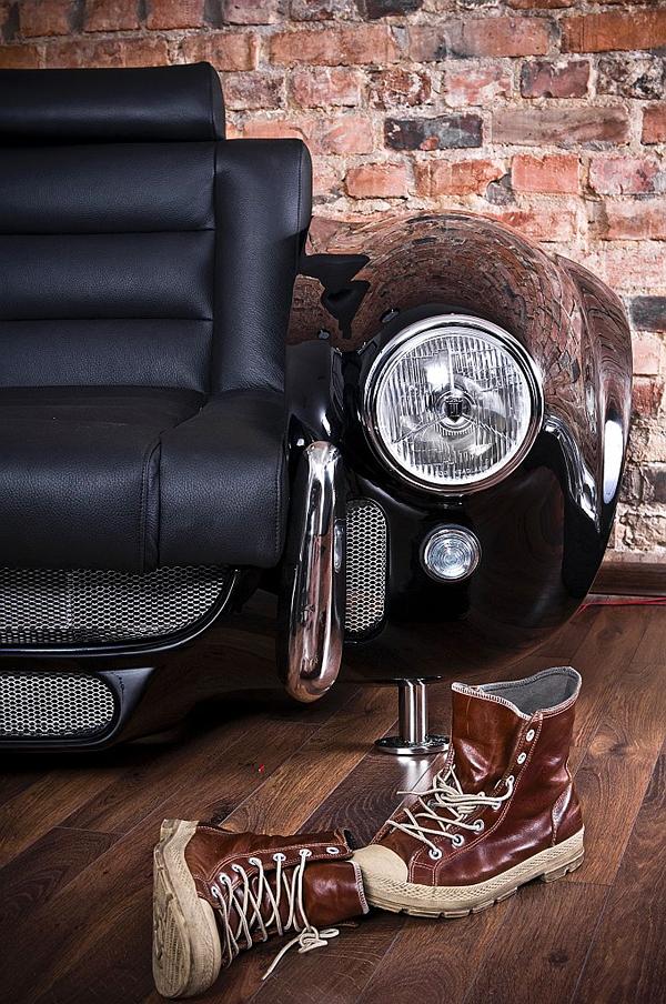 retro auto möbel designs sofa scheinwerfer