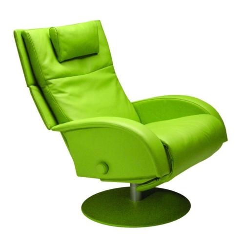 retro moderne sessel designs leder elegant-italienisch grün