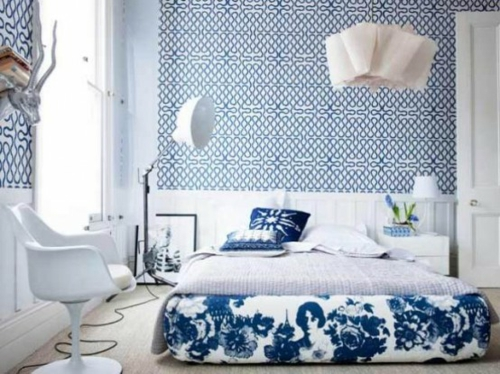 Schlafzimmer modern blau  Schlafzimmer Richtig Einrichten Feng Shui