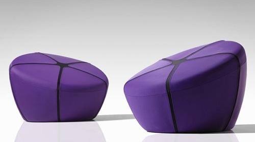 schön leder puf  design lila farbe ergonomisch form