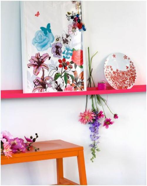 schöne blumen details interior design idee frisch bunt