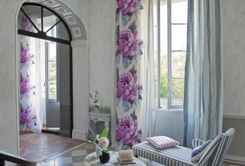 schöne frische blumen muster interior zärtlich weiblich design