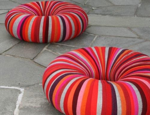 schöne puff designs gestreift bunt niedrig orientalisch form