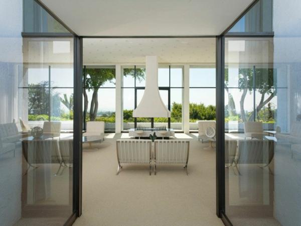 wohnung in kalifornien minimalistisch weiß esszimmer wohnbereich
