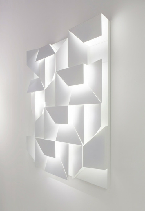 Schlafzimmer Einrichten 3d: Muster An Der Wand Streichen- Formen ... Schlafzimmer Einrichten 3d