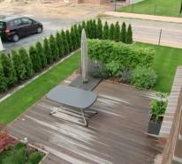 Sichtschutz f r terrasse eine gr ne wand sch tzt ihre privatsph re - Grune bodenfliesen ...