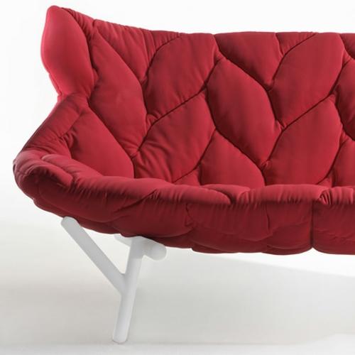 sofa sitzbank rot designer lösung bequem auflage decke