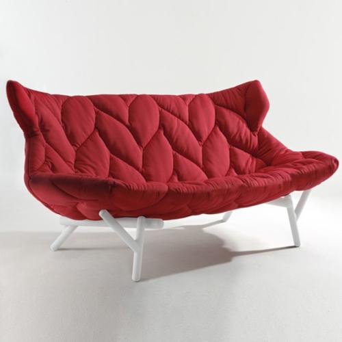 Rotes gepolstertes Sofa designer lösung bequem polsterung
