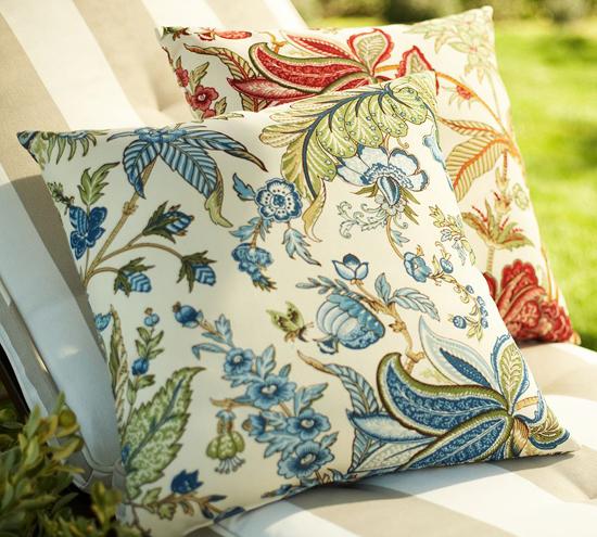 sommer garten deko ideen floral muster wurfkissen polyester