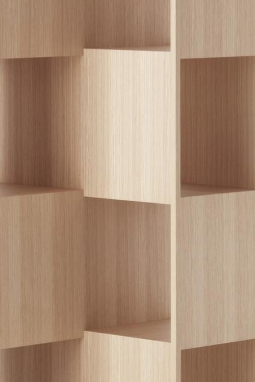 Ein sonderbares Bücher Regal holz interessant design japanisch studio