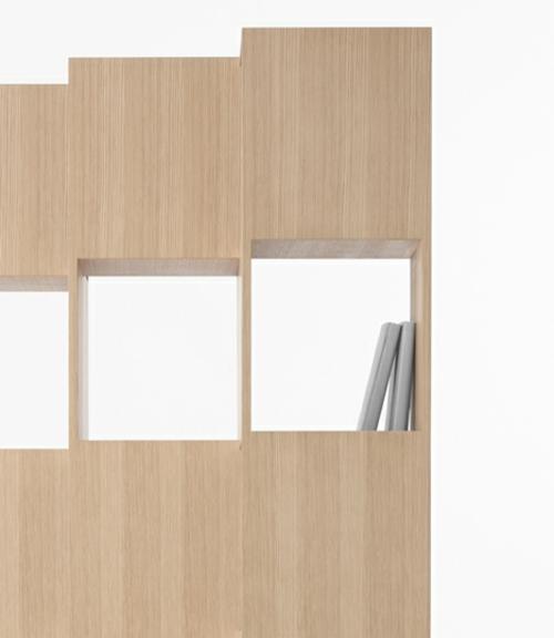 Ein sonderbares Bücher Regal holz interessant design praktisch